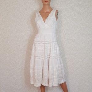 MAGIC💟Boho Crochet Lace V-Neck Midi Dress